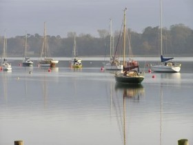 Moorings looking north
