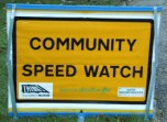 community speedwatch sign